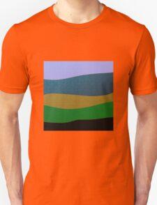 GOLD, purple, blue,FEILD abstract art Unisex T-Shirt
