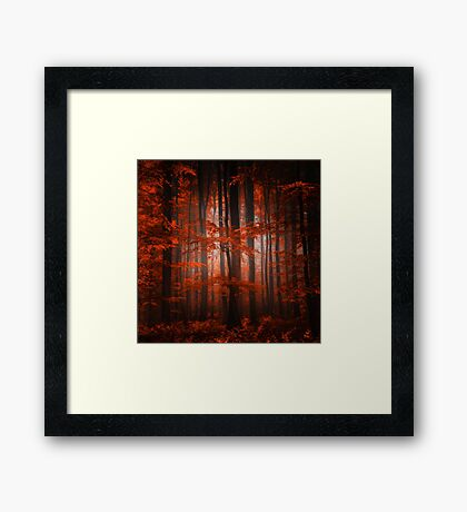 Red Parallel Universe Framed Print