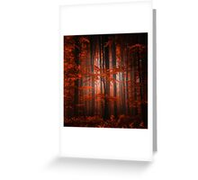 Red Parallel Universe Greeting Card