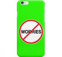 No Worries Phone Case; Electrified Green iPhone Case/Skin