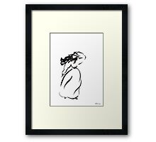 Girl on the wind Framed Print