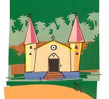 Marquesan Church - NUKU HIVA by Michael Lothian