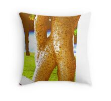 Yoga Asana Throw Pillow