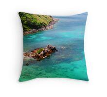 Tropical Coast Throw Pillow