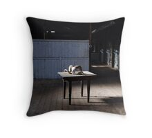 Naked Shed Throw Pillow