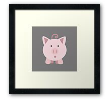 Surprised pig Framed Print
