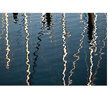 Masts reflected in water Photographic Print
