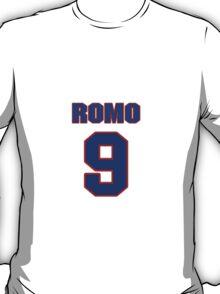 National football player Tony Romo jersey 9 T-Shirt