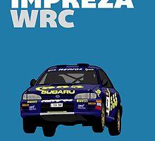 Fortitude's  'Colin McRae 555' Subaru Impreza Tribute Poster by Twain Forsythe