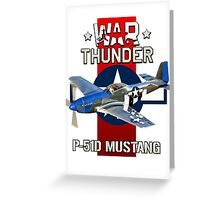 War Thunder P-51 Mustang  Greeting Card