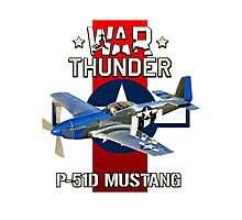 War Thunder P-51 Mustang  Photographic Print