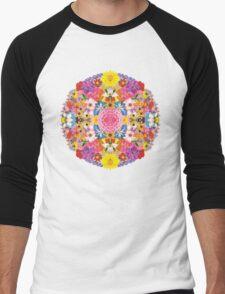 Flower Mandala  Men's Baseball ¾ T-Shirt