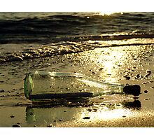 message in a bottle - 3 Photographic Print