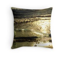 message in a bottle - 3 Throw Pillow