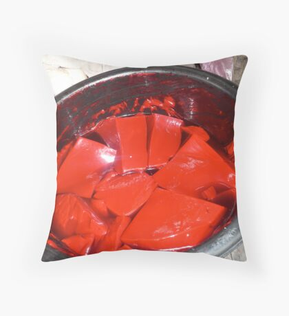 Redred Throw Pillow