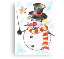 Snowmans  Stardom Canvas Print