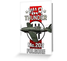 War Thunder Mc202 Folgore Greeting Card