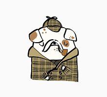 Sherlock Bulldog Womens Fitted T-Shirt