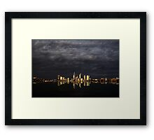 Overcast Perth Framed Print
