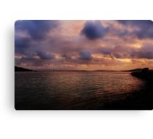 Sunset at Albany Canvas Print