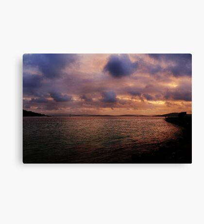 Sunset at Albany Canvas Print