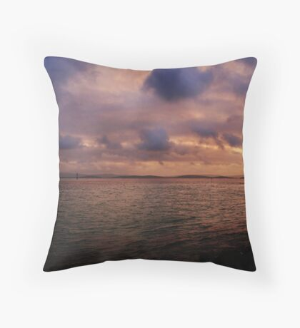 Sunset at Albany Throw Pillow