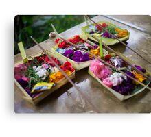 Canang Sari - Balinese Offerings Canvas Print