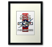 War Thunder P-38 Lightning Framed Print