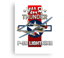 War Thunder P-38 Lightning Canvas Print
