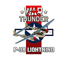 War Thunder P-38 Lightning Photographic Print