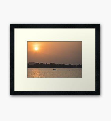 Sunset on Lake Tana, Ethiopia Framed Print
