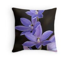Spotted Sun Orchid Throw Pillow