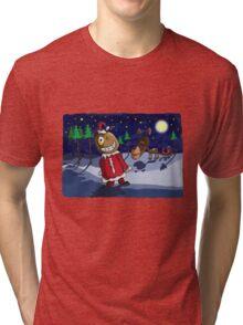 Odd Santa & Bob Reindeer Tri-blend T-Shirt