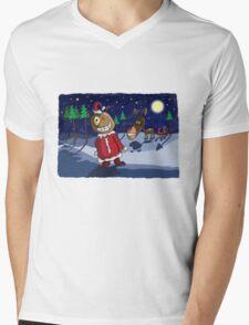 Odd Santa & Bob Reindeer Mens V-Neck T-Shirt