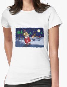 Odd Santa & Bob Reindeer Womens Fitted T-Shirt