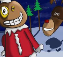 Odd Santa & Bob Reindeer Sticker