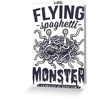The Flying Spaghetti Monster Greeting Card
