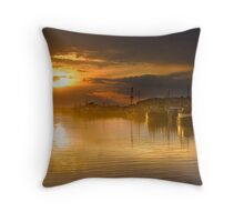Lakes Entrance Sunset Throw Pillow