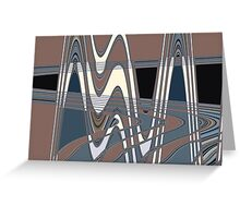 50s pattern Greeting Card