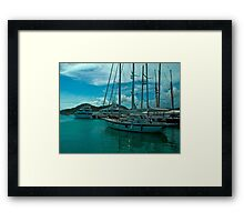 Antiguan Harbour Life Framed Print
