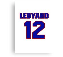 National football player Hal Ledyard jersey 12 Canvas Print