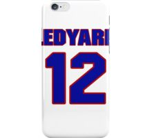 National football player Hal Ledyard jersey 12 iPhone Case/Skin