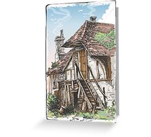 Vintage View of Fable House Greeting Card