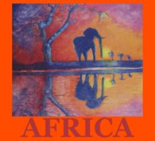 African Landscape with Elephant Kids Clothes