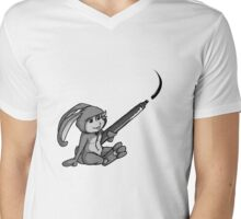 Doodling Bunny. Mens V-Neck T-Shirt