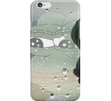 Pepe, the Sad Frog (Rainy Window) iPhone Case/Skin