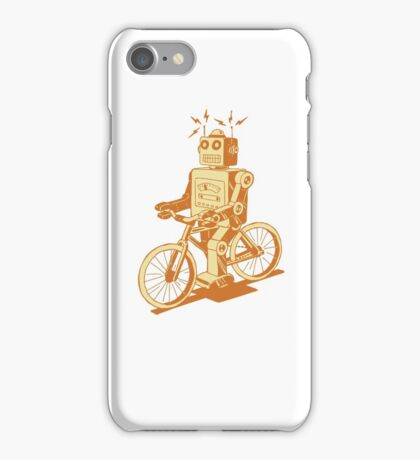 robot on fixie iPhone Case/Skin