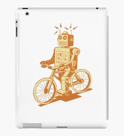 robot on fixie iPad Case/Skin