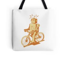 robot on fixie Tote Bag
