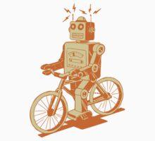 robot on fixie by Hendude